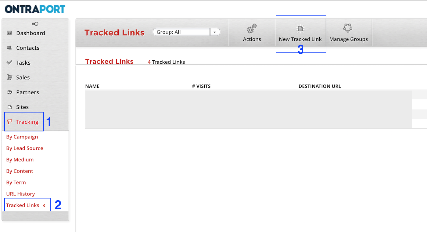 where to create tracked links