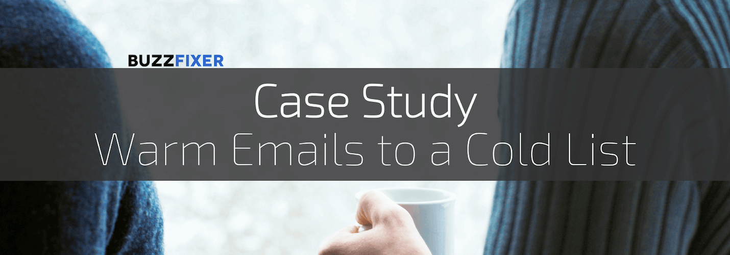 Cold email campaign to a warm audience [Case Study]