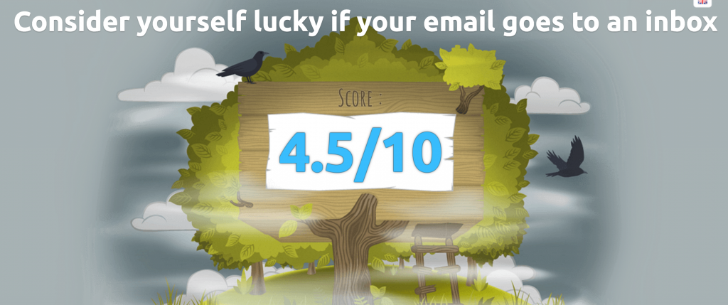 Your Mail Tester Score