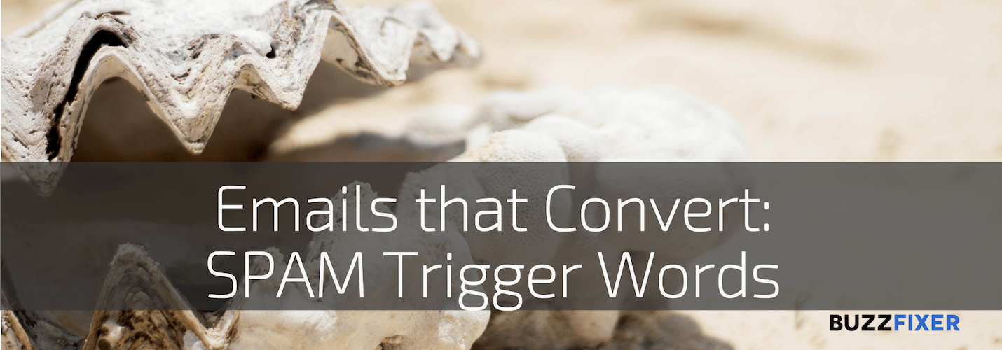 Emails that convert: Words that get you in the SPAM folder