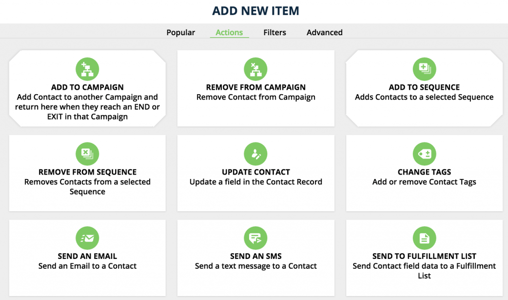 ontraport visual campaign builder elements actions 1