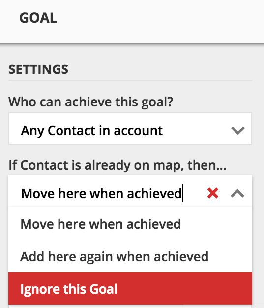 goal settings for system overview campaign