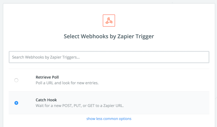 catch webhook on zapier