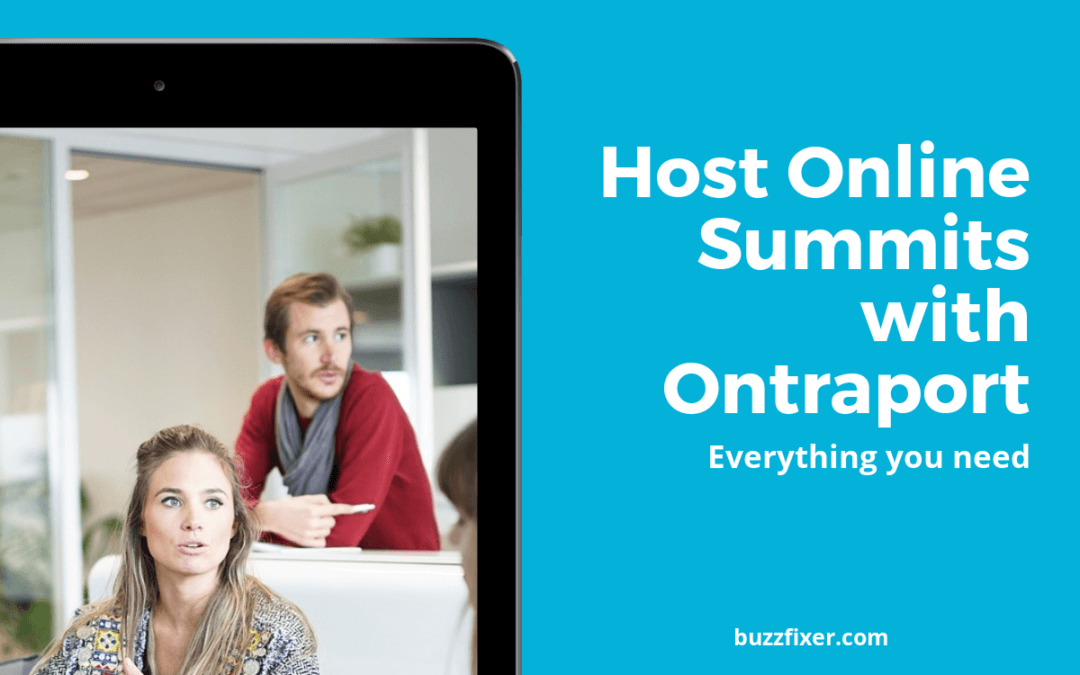 Hosting an Online Summit with Ontraport